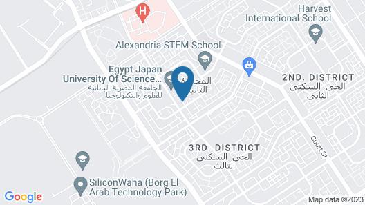 E-Just Hotel Borg El Arab Map