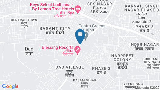Aagaaz for Luxury Stay and Celebration Map