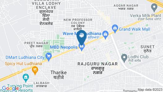 Hyatt Regency Ludhiana Map