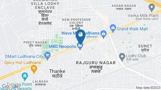 Radisson Blu Hotel Ludhiana Map