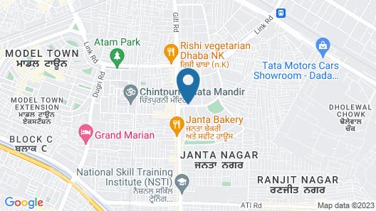 OYO 16827 Hotel Grand M Lajjo Map