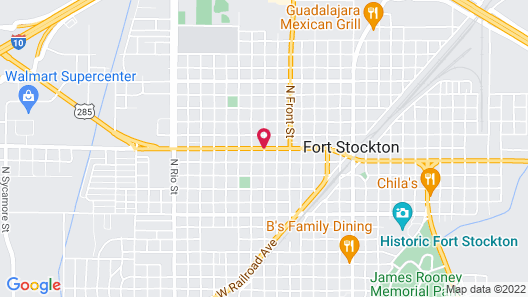 Budget Inn Fort Stockton Map