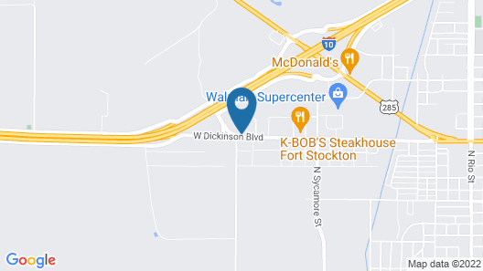 Super 8 by Wyndham Ft Stockton Map