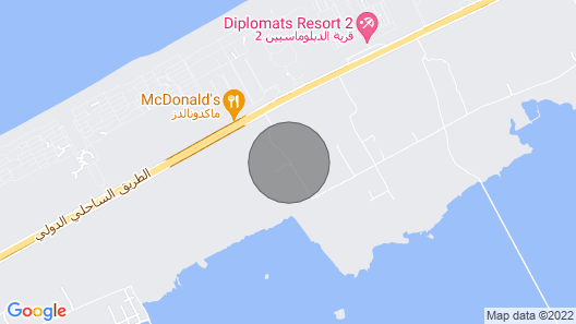 Luxurious villa in North Coast with privet beach. Map