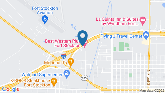 Best Western Plus Fort Stockton Hotel Map