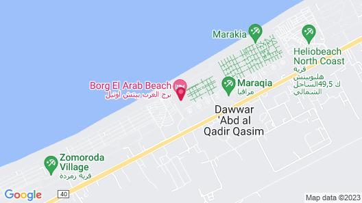 Borg El Arab Beach Hotel Map