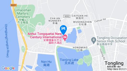 Tong Que Tai New Century Hotel Tongling Anhui Map