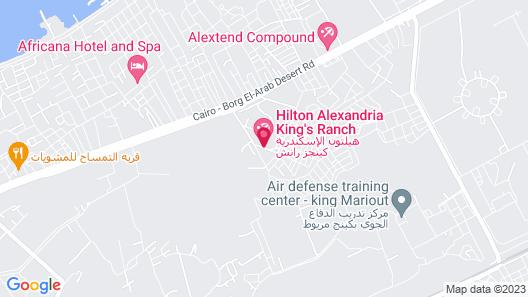 Hilton Alexandria King's Ranch Map