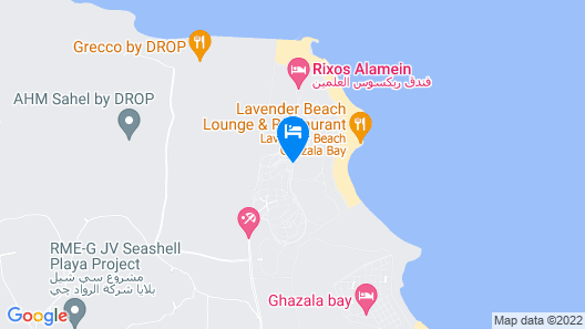 villa 30D Ghazala bay beside rixos Map