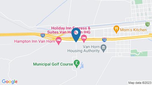Hampton Inn Van Horn Map