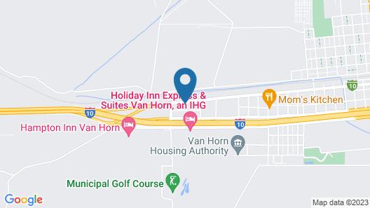 Motel 6 Van Horn, TX Map