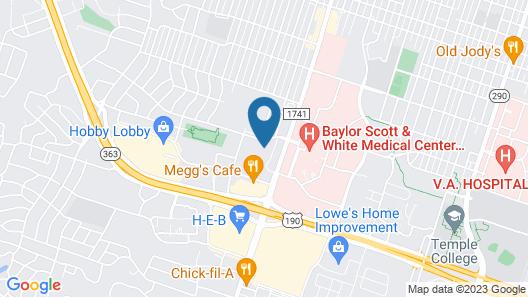 Hilton Garden Inn Temple Medical Center Map