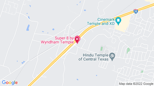 Super 8 by Wyndham Temple Map