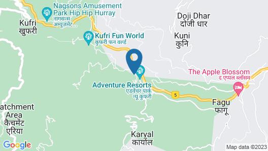 The Twin Towers Hotel New Kufri Map