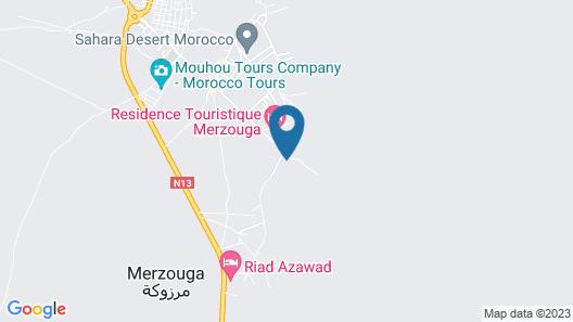 Auberge Kasbah Merzouga Map