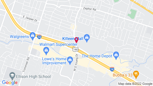 Courtyard Killeen Marriott Map