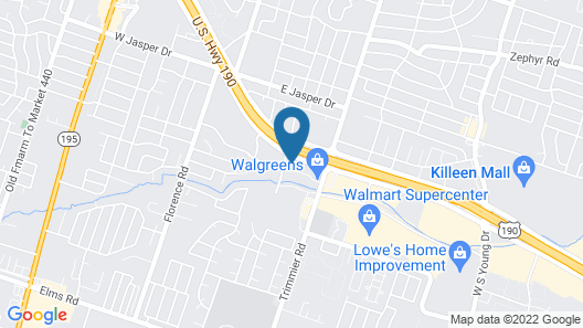 Motel 6 Killeen, TX Map