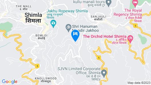 Fairmount Hotel Shimla Map