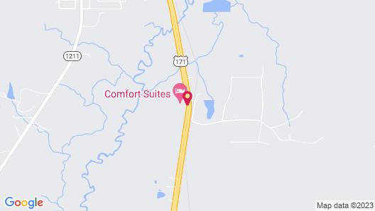Comfort Suites Leesville Map