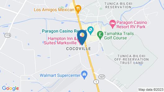 Hampton Inn & Suites Marksville Map