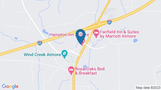Hampton Inn Atmore Map