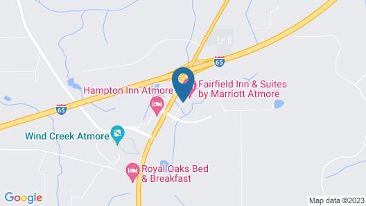 Fairfield Inn & Suites Atmore Map
