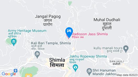 Radisson Hotel Shimla Map