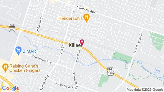 OYO Hotel Killeen Map