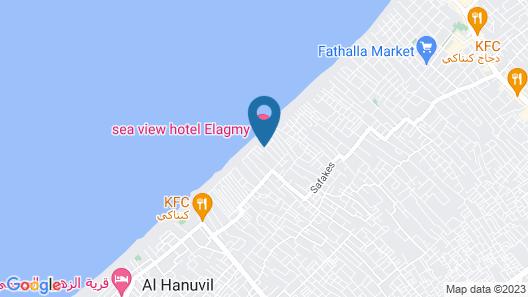 Sea View Hotel Elagamy Map