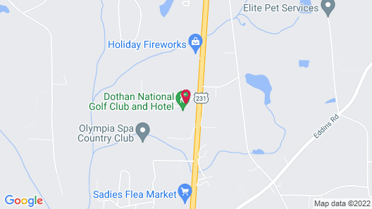 Dothan National Golf Club and Hotel Map