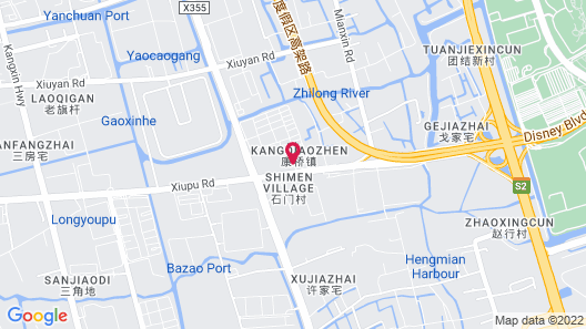 Courtyard by Marriott Shanghai International Tourism and Resorts Zone Map