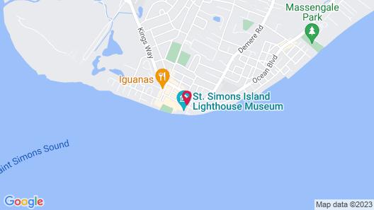 Saint Simons Inn by the Lighthouse Map