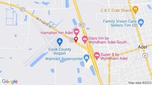 Hampton Inn Adel Map