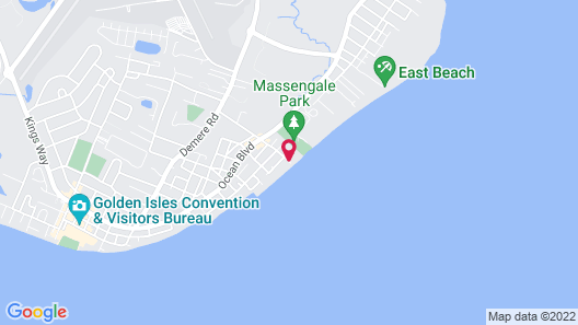 The King and Prince Beach & Golf Resort Map
