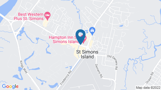 Hampton Inn St. Simons Island Map
