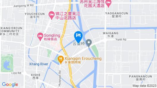 GreenTree Inn Jiangsu Suzhou Wujiang Yunliqiao Business Hotel Map