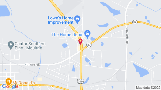 Hampton Inn Moultrie Map