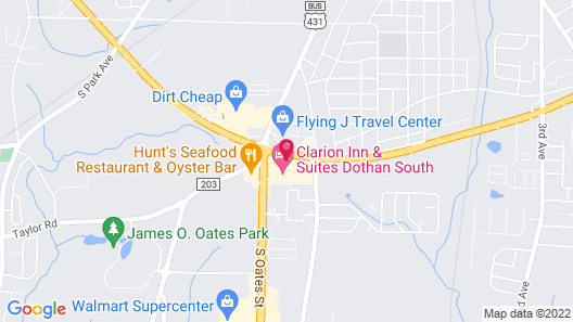 Clarion Inn & Suites Dothan South Map
