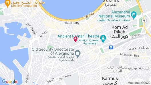 Alexander the Great Hotel - Alexotel Map
