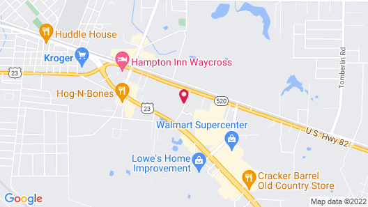 Super 8 by Wyndham Waycross GA Map