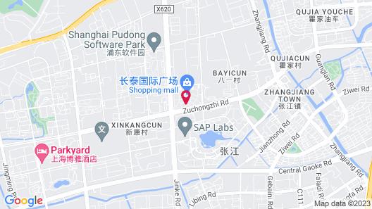 Evergreen Laurel Hotel Shanghai Map