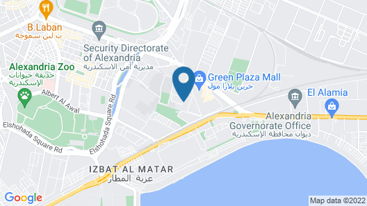 Hilton Alexandria Green Plaza Map