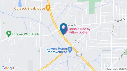 DoubleTree by Hilton Dothan, AL Map