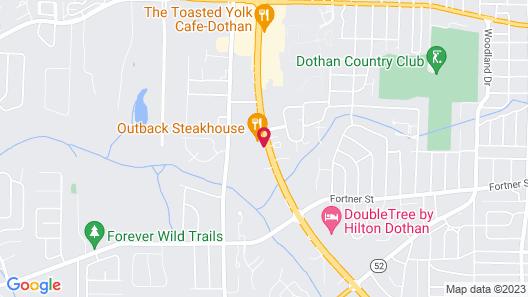 Motel 6 Dothan, AL Map