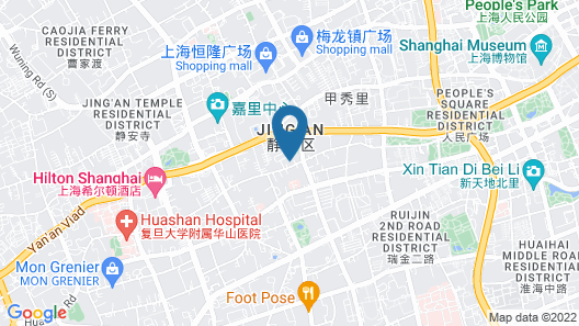 Okura Garden Hotel Shanghai Map