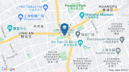 The Langham, Shanghai, Xintiandi Map