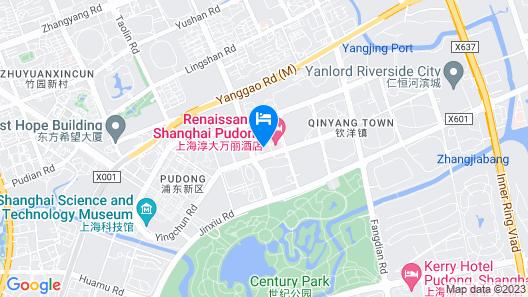Parkline Century Park Hotel Shanghai Map