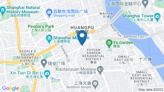 SSAW Boutique Hotel Shanghai Bund(Narada Boutique YuGarden) Map