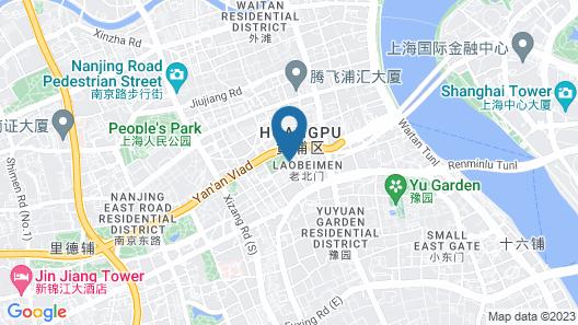 Campanile Shanghai Bund Hotel Map