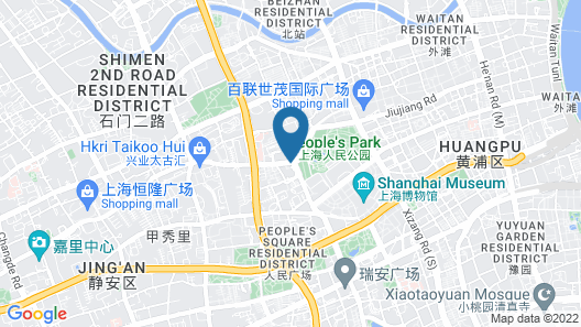 JW Marriott Hotel Shanghai Tomorrow Square Map